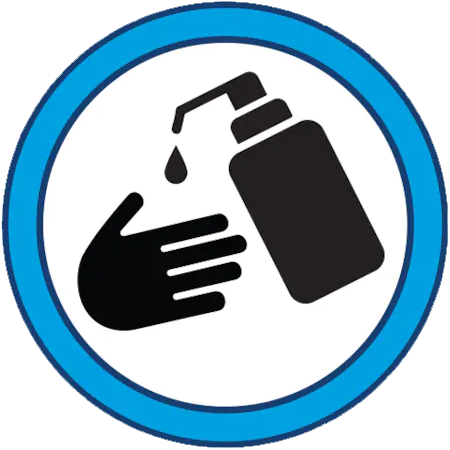 sanitize hands icon